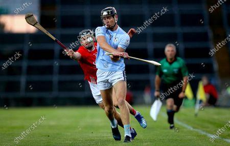 Doon vs Na Piarsaigh. Doon's Mikey O'Brien and Conor Boylan of Na Piarsaigh