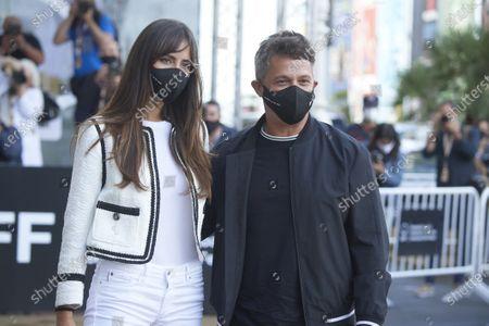 Alejandro Sanz, Rachel Valdes arrives at Maria Cristina Hotel during 68th San Sebastian International Film Festival