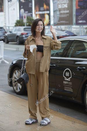 Maria Pedraza arrives at Maria Cristina Hotel during 68th San Sebastian International Film Festival