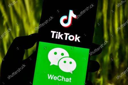 Editorial photo of Company logos displayed on smartphone in China - 20 Sep 2020