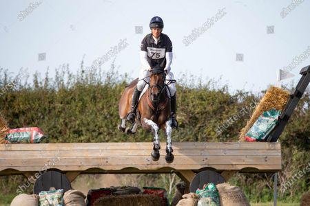 William Fox-Pitt rides Grafennachtin the Cross Country Course at Burnham Market Horse Trials