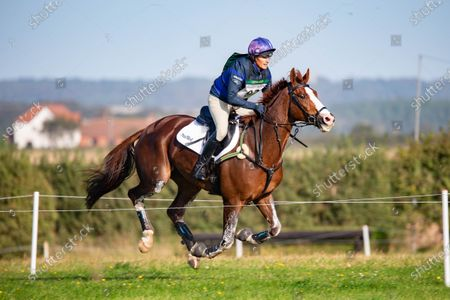 Zara Tindall rides the Cross Country Course at Burnham Market Horse Trials
