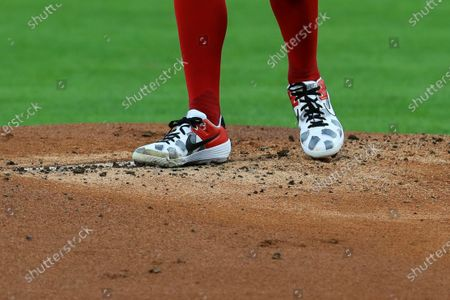 Cincinnati Reds' Trevor Bauer stands on the pitcher's mound in the first inning during a baseball game against the Chicago White Sox in Cincinnati