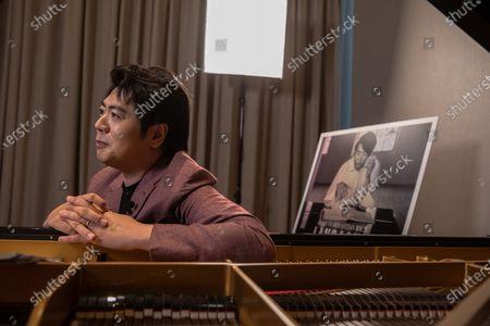 Chinese pianist Lang Lang speaks during an interview with EFE, in Beijing, China, 14 September 2020 (issued 20 September 2020). Lang Lang released his recordings on Johann Sebastian Bach's monumental work 'Goldberg Variations' on 04 September 2020.