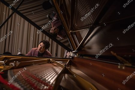 Chinese pianist Lang Lang performs during an interview with EFE, in Beijing, China, 14 September 2020 (issued 20 September 2020). Lang Lang released his recordings on Johann Sebastian Bach's monumental work 'Goldberg Variations' on 04 September 2020.