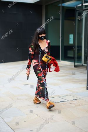 Editorial image of Street Style, Spring Summer 2021, London Fashion Week, UK - 19 Sep 2020