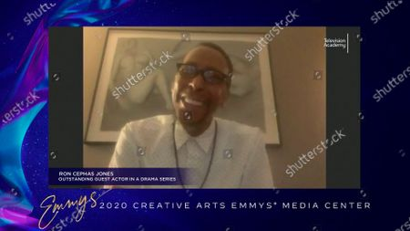 "Stock Image of Ron Cephas Jones speaks in the 2020 Creative Arts Emmy Awards Media Center, after receiving the Emmy for Outstanding Guest Actor In A Drama Series for ""This Is Us"" for ""After The Fire"", on at 8:00 PM EDT/5:00 PM PDT on FXX"