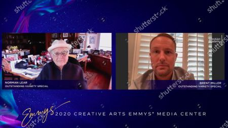 """Norman Lear and Brent Miller received their Emmy for Outstanding Variety Special (Live) for """"Live In Front Of A Studio Audience: """"All In The Family"""" And """"Good Times"""""""" earlier this week and is interviewed about their win in the 2020 Creative Arts Emmy Awards Media Center on at 8:00 PM EDT/5:00 PM PDT on FXX"""