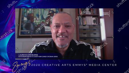 """Laurence Fishburne received his Emmy for Outstanding Actor In A Short Form Comedy Or Drama Series for """"#FreeRayshawn"""" earlier this week and is interviewed about his win in the 2020 Creative Arts Emmy Awards Media Center on at 8:00 PM EDT/5:00 PM PDT on FXX"""