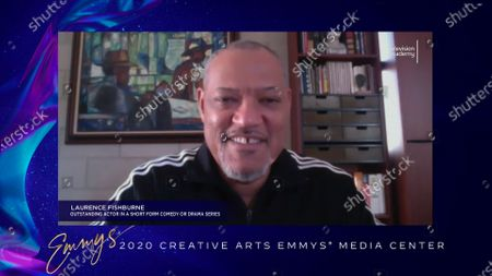 """Stock Image of Laurence Fishburne received his Emmy for Outstanding Actor In A Short Form Comedy Or Drama Series for """"#FreeRayshawn"""" earlier this week and is interviewed about his win in the 2020 Creative Arts Emmy Awards Media Center on at 8:00 PM EDT/5:00 PM PDT on FXX"""