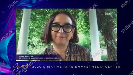 """Maya Rudolph speaks in the 2020 Creative Arts Emmy Awards Media Center, after receiving the Emmy for Outstanding Guest Actress In A Comedy Series for """"The Good Place"""" for """"You've Changed, Man"""", on at 8:00 PM EDT/5:00 PM PDT on FXX"""