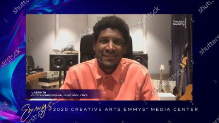 """Stock Picture of Labrinth received his Emmy for Outstanding Original Music And Lyrics for the original song """"All For Us"""" from """"Euphoria's"""" final episode """"And Salt The Earth Behind You"""" earlier this week and is interviewed about his win in the 2020 Creative Arts Emmy Awards Media Center on at 8:00 PM EDT/5:00 PM PDT on FXX"""