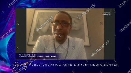 "Stock Picture of Ron Cephas Jones speaks in the 2020 Creative Arts Emmy Awards Media Center, after receiving the Emmy for Outstanding Guest Actor In A Drama Series for ""This Is Us"" for ""After The Fire"", on at 8:00 PM EDT/5:00 PM PDT on FXX"