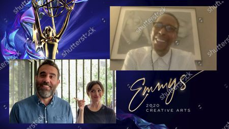 "Bobby Cannavale and Rose Byrne presents the Emmy for Outstanding Guest Actor In A Drama Series to Ron Cephas Jones for ""This Is Us"" for ""After The Fire"" during the 2020 Creative Arts Emmy Awards telecast on at 8:00 PM EDT/5:00 PM PDT on FXX"