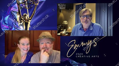 "Jeannie Gaffigan and Jim Gaffigan present the Emmy for Outstanding Sound Mixing For A Comedy Or Drama Series (One Hour) to Ron Bochar for ""The Marvelous Mrs. Maisel"" for ""A Jewish Girl Walks Into The Apollo..."" during the 2020 Creative Arts Emmy Awards telecast on at 8:00 PM EDT/5:00 PM PDT on FXX"
