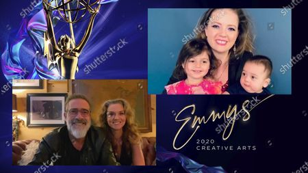 """Jeffrey Dean Morgan and Hilarie Burton present the Emmy for Outstanding Contemporary Makeup (Non-Prosthetic) to Tara Lang Shah for """"Euphoria"""" for """"And Salt The Earth Behind You"""" during the 2020 Creative Arts Emmy Awards telecast on at 8:00 PM EDT/5:00 PM PDT on FXX"""
