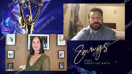 """Cheryl Burke presents the Emmy for Outstanding Choreography For Scripted Programming to Al Blackstone for """"So You Think You Can Dance"""" for """"Routines: I'll Be Seeing You, Mambo Italiano, The Girl From Ipanema"""" during the 2020 Creative Arts Emmy Awards telecast on at 8:00 PM EDT/5:00 PM PDT on FXX"""