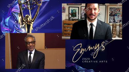 "Stock Photo of Giancarlo Esposito presents the Emmy for Outstanding Children's Program to Louis Leterrier for ""Jim Henson's The Dark Crystal: Age Of Resistance"" during the 2020 Creative Arts Emmy Awards telecast on at 8:00 PM EDT/5:00 PM PDT on FXX"