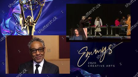 "Stock Image of Giancarlo Esposito presents the Emmy for Outstanding Children's Program to Amy Schatz for ""We Are The Dream: The Kids Of The Oakland MLK Oratorical Fest"" during the 2020 Creative Arts Emmy Awards telecast on at 8:00 PM EDT/5:00 PM PDT on FXX"