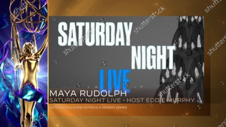 """Maya Rudolph accepts the Emmy for Outstanding Guest Actress In A Comedy Series for """"Saturday Night Live"""" for """"Host: Eddie Murphy"""" The Academy accepts on her behalf during the 2020 Creative Arts Emmy Awards telecast on at 8:00 PM EDT/5:00 PM PDT on FXX"""