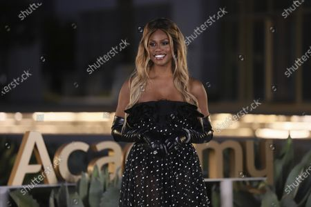 Laverne Cox presents the Emmy for Outstanding Guest Actor In A Comedy Series during the 2020 Creative Arts Emmy Awards telecast on at 8:00 PM EDT/5:00 PM PDT on FXX