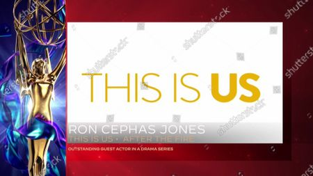 "Ron Cephas Jones accepts the Emmy for Outstanding Guest Actor In A Drama Series for ""This Is Us"" for ""After The Fire"" during the 2020 Creative Arts Emmy Awards telecast on at 8:00 PM EDT/5:00 PM PDT on FXX"