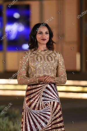 Monica Raymund presents the Emmy for Outstanding Casting For A Limited Series, Movie Or Special during the 2020 Creative Arts Emmy Awards telecast on at 8:00 PM EDT/5:00 PM PDT on FXX