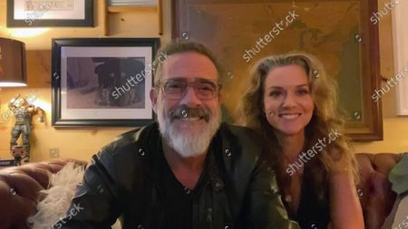 Jeffrey Dean Morgan, left, and Hilarie Burton present the Emmy for Outstanding Contemporary Makeup (Non-Prosthetic) during the 2020 Creative Arts Emmy Awards telecast on at 8:00 PM EDT/5:00 PM PDT on FXX