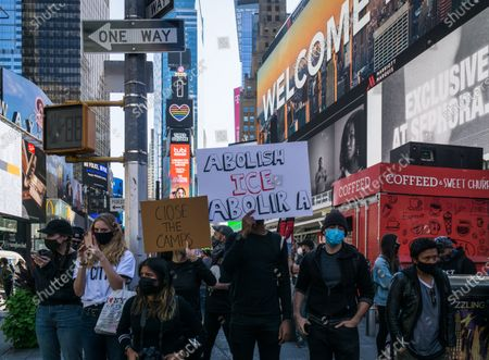 Editorial image of NYC: Anti ICE Protest, New York City, New York, United States - 19 Sep 2020