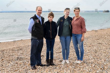 Prince Edward, James Viscount Severn, Lady Louise Windsor and Sophie Countess of Wessex