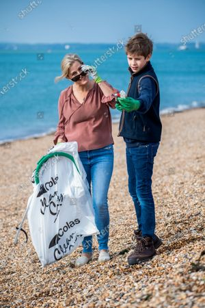 Editorial image of Prince Edward and Sophie Countess of Wessex Great British Beach Clean, Southsea Beach, Portsmouth, UK - 20 Sep 2020