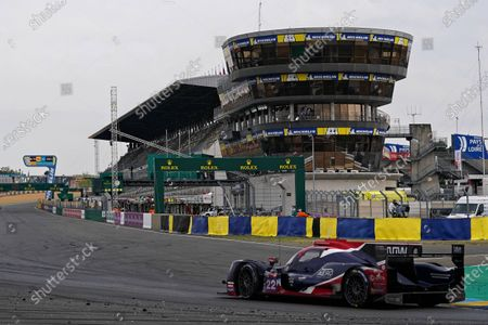 United Autosports (starting no.22) in a Oreca 07 - Gibson with Phillip Hanson of Great Britain, Filipe Albuquerque of Portugal and Paul Di Resta of Great Britain in action during the Le Mans 24 Hours race in Le Mans, France, 20 September 2020. The race is scheduled to finish at 2.30 pm local time.