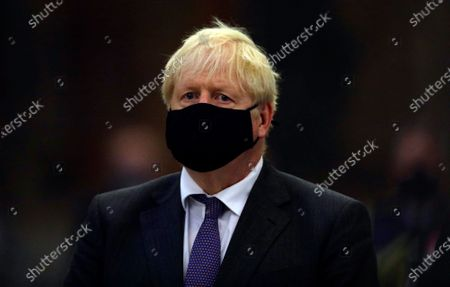 Britain's Prime Minister Boris Johnson looks on during a service to mark the 80th anniversary of the Battle of Britain at Westminster Abbey, London