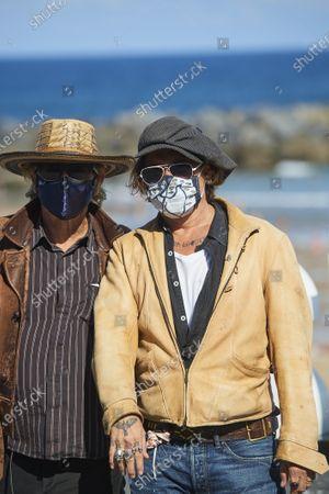 Johnny Depp, Julian Temple during 68th San Sebastian International Film Festival at Kursaal Palace on in Donostia, San Sebastian, Spain