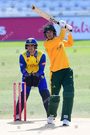 Alex Hales of Nottinghamshire during the Vitality T20 Blast North Group match between Nottinghamshire County Cricket Club and Durham County Cricket Club at Trent Bridge, Nottingham