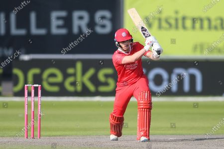 Lancashire Lightnings Rob Jones during the Vitality T20 Blast North Group match between Lancashire County Cricket Club and Leicestershire County Cricket Club at the Emirates, Old Trafford, Manchester