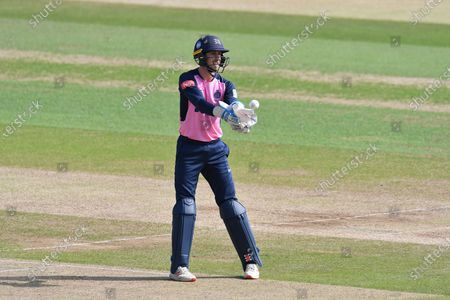 John Simpson of Middlesex during the Vitality T20 Blast South Group match between Hampshire County Cricket Club and Middlesex County Cricket Club at the Ageas Bowl, Southampton