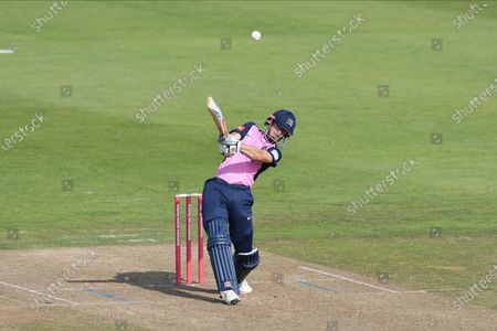 John Simpson of Middlesex batting during the Vitality T20 Blast South Group match between Hampshire County Cricket Club and Middlesex County Cricket Club at the Ageas Bowl, Southampton