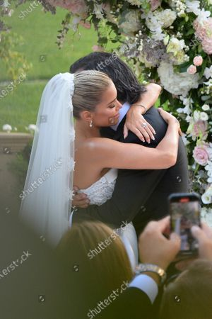 Editorial photo of Sylvie Meis and Niclas Castello wedding ceremony at Villa Cora, Florence, Italy - 19 Sep 2020