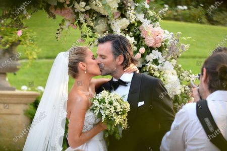 Editorial image of Sylvie Meis and Niclas Castello wedding ceremony at Villa Cora, Florence, Italy - 19 Sep 2020