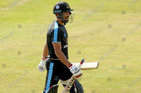 Ravi Bopara of Sussex Sharks leaves the batting nets following his warm-up prior to Essex Eagles vs Sussex Sharks, Vitality Blast T20 Cricket at The Cloudfm County Ground on 20th September 2020