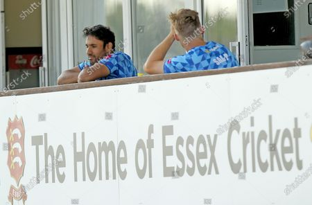 Stock Picture of Ravi Bopara of Sussex sits on his old players balcony at Essex during Essex Eagles vs Sussex Sharks, Vitality Blast T20 Cricket at The Cloudfm County Ground on 20th September 2020