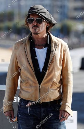 Johnny Depp attends a photocall for 'Crock of Gold: A Few Rounds with Shane McGowan' at the 68th annual San Sebastian International Film Festival (SSIFF), in San Sebastian, Spain, 20 September 2020. The film festival runs from 18 to 26 September 2020 under safety measures like obligatory face mask use and red carpets without public due to the Covid-19 coronavirus pandemic. Organizers have also reduced the number of film screenings as well as the seating capacity in cinemas.