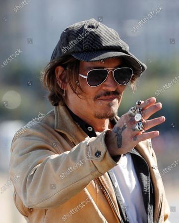 Stock Image of Johnny Depp attends a photocall for 'Crock of Gold: A Few Rounds with Shane McGowan' at the 68th annual San Sebastian International Film Festival (SSIFF), in San Sebastian, Spain, 20 September 2020. The film festival runs from 18 to 26 September 2020 under safety measures like obligatory face mask use and red carpets without public due to the Covid-19 coronavirus pandemic. Organizers have also reduced the number of film screenings as well as the seating capacity in cinemas.