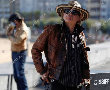 Julien Temple attends a photocall for 'Crock of Gold: A Few Rounds with Shane McGowan' at the 68th annual San Sebastian International Film Festival (SSIFF), in San Sebastian, Spain, 20 September 2020. The film festival runs from 18 to 26 September 2020 under safety measures like obligatory face mask use and red carpets without public due to the Covid-19 coronavirus pandemic. Organizers have also reduced the number of film screenings as well as the seating capacity in cinemas.