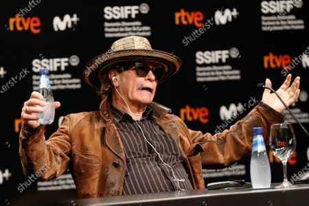 Julien Temple attends a press conference on 'Crock of Gold: A Few Rounds with Shane McGowan' at the 68th annual San Sebastian International Film Festival (SSIFF), in San Sebastian, Spain, 20 September 2020. The film festival runs from 18 to 26 September 2020 under safety measures like obligatory face mask use and red carpets without public due to the Covid-19 coronavirus pandemic. Organizers have also reduced the number of film screenings as well as the seating capacity in cinemas.
