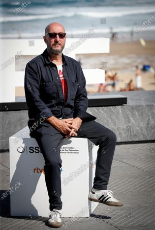 Diego Postigo poses during a photocall for his movie 'Hermanas' (lit.: Sisters) at the 68th annual San Sebastian International Film Festival (SSIFF), in San Sebastian, Spain, 20 September 2020. The film festival will run from 18 to 26 September 2020 under safety measures like obligatory face mask use and red carpets without public due to the Covid-19 coronavirus pandemic. Organizers have also reduced the number of film screenings as well as the seating capacity in cinemas.