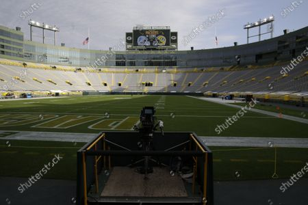 General view of Lambeau Field before an NFL football game between the Detroit Lions and Green Bay Packers, in Green Bay, Wis