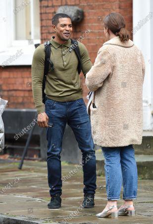 Noel Clarke filming the ITV drama Viewpoint