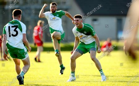 Stock Picture of Baltinglass vs Tinahely. Baltinglass' Tom Burke celebrates at the final whistle
